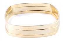 All Three Square Bangle Set Solid -Seen on Tamera Mowry-Housley & Margo and Me!