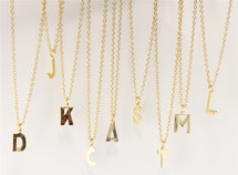 One Initial Alphabet Necklace