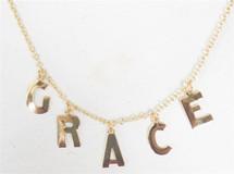 Five Initial Alphabet Necklace