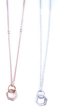 Double Octagons Necklace - More Colors