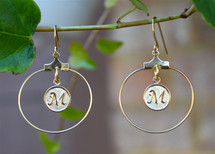 Initials Hoop Earrings
