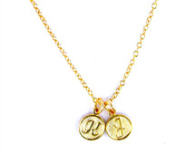 Double Initials Necklace