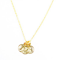 Triple Initials Necklace