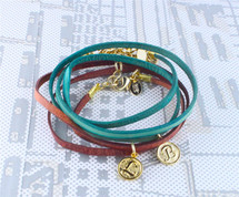 Katie Intial Wrap Bracelet/Necklace - more colors