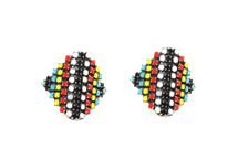 Aventine Earring - As seen in Lash Magazine - Tribal Colors - more colors