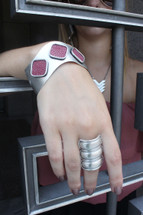 Alexandra Stingray Cuff Silver - More Colors: Seen in Bisous Magazine!