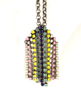 Jeweled Aventine Necklace - Pastel Fringe