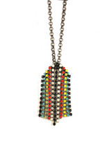 Jeweled Aventine Necklace - Tribal Fringe - more colors