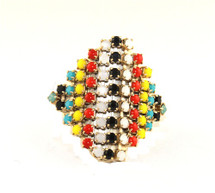 Aventine Jeweled Ring - Tribal Colors - As Seen In People Stylewatch!