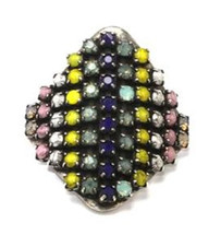 Aventine Jeweled Ring - Pastel Colors - As Seen In People Stylewatch!