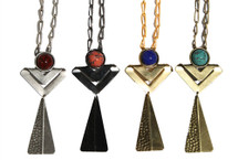 Cheyenne Stoned Necklace - more colors