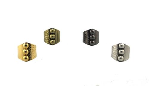 Gold, antique brass, gunmetal, antique silver