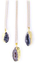 Bella Druzy Pendant Necklace