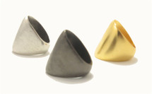 Brushed Dome Ring - As Seen On Kim Kardashian!- More Colors