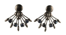 Peacock Earrings with Stones - As seen on Basketball Wives!
