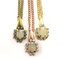 Jeweled Triangle Necklace - more colors - As Seen on Maria Sharapova!