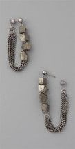 Pyrite Earrings - more colors - As Seen on Sarah Mitchell of E!'s Dance Scene!