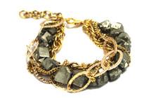Pyrite Bracelet - Gold