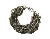 Pyrite Bracelet - Silver