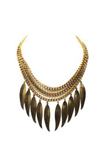 Feathered Necklace: Seen on Giuliana Rancic!