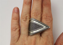 Broken Arrow Textured Ring - more colors: Seen on Alyson Stoner!