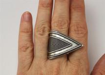 Broken Arrow Textured Ring - more colors: Seen on Alyson Stoner!