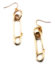 Pinned Earring - more colors: Seen in Cosmo for Latinas!