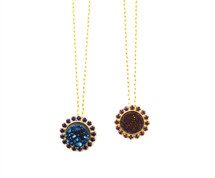 Rowena Druzy Jeweled Necklace- More Colors
