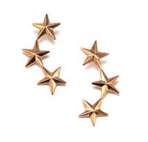 Triple Star Earring