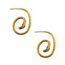 Snake Hoop Earrings - more colors
