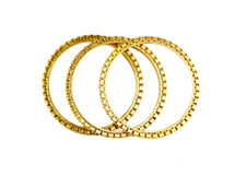 Serena Bangles Gold - Set of 3 - As Seen In InStyle Magazine and on Tia Mowry!