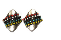 Stingray Earring -Tribal Colors