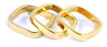 Sadie Midi Ring Set of Three - Solid - More Colors