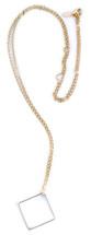 GOLD Single Square Necklace - more colors