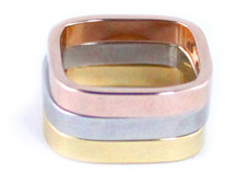 Sadie Ring Set of Three - Midi - Tri-Color