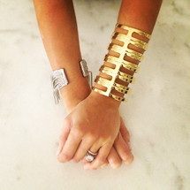 Statement Cage Cuff - Shiny - More Colors: Seen on Carmen Electra Alyson Stoner & Catherine Giudici Lowe!