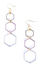 Triple Octagon Earring - More Colors