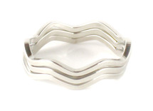 Wavy Rings - Solid Set of 3 - more colors: Seen on Carrie Ann Inaba & Poor Little It Girl!