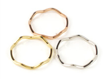 Wavy Rings - Tri-Color Set of 3: Seen on Carrie Ann Inaba & Poor Little It Girl!