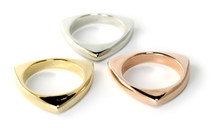 Dalton Ring Set of 3 - Tri color: Seen on Molly Sims on the cover of Fit Pregnancy!