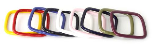 Mustard, red, blue, black, white, blush, navy, olive, or burgundy enamel