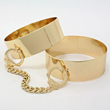 Cuffed Double Bangle: Seen in Cosmo Magazine! LAST ONE!