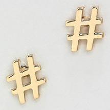 #Hashtag Studs
