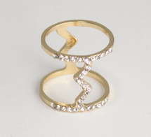 Pave Zig Zag Midi Ring *Limited Edition*