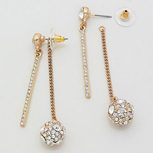 Convertible Pave Stud/Drop Earrings *Limited Edition*