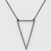 Triangular Pave Necklace *Limited Edition*