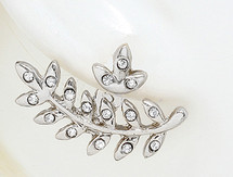 Leaf Ear Jacket Earrings Silver *Limited Edition*: Seen on Nicole Ari Parker!