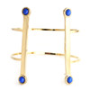 Gold plated/blue lapis stones