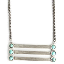 Antique silver/turquoise