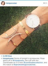 Sweet Child Cuff - more colors: Seen on Miss Maven Teni Penosian, Glam Latte & Actress Haley Ramm!